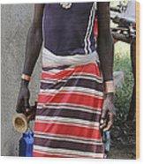 Ethiopia-south Tribesman No.3 Wood Print