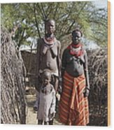 Ethiopia-south Tribeswomen No.1 Wood Print