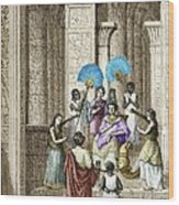 Euclid And Ptolemy Soter, King Of Egypt Wood Print by Sheila Terry