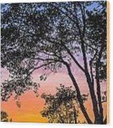 Eureka Sunset Wood Print