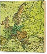 Europe Map Of 1911 Wood Print