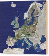 European Union Wood Print