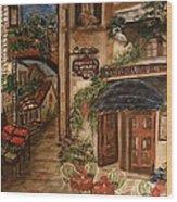 European Village Wood Print