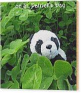 Even Pandas Are Irish On St. Patrick's Day Wood Print
