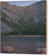 Evening At Chimney Pond  Wood Print