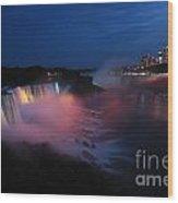 Evening At Niagara Wood Print