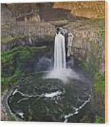 Evening At Palouse Falls Wood Print