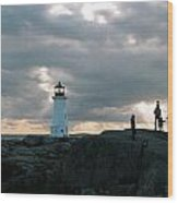 Evening At Peggy's Cove Wood Print