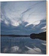 Evening Clouds Over Haukkajarvi Wood Print