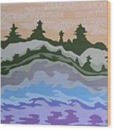 Evening Impressions Wood Print