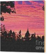 Evening In Paradise Painterly Style Wood Print