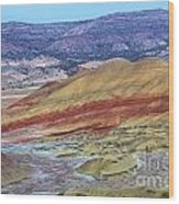 Evening In The Painted Hills Wood Print