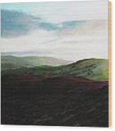 Evening Landscape Towards Llangollen Wood Print