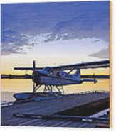 Evening Light On A Dehavilland Beaver- Abstract Wood Print by Tim Grams