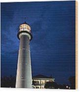 Evening Lighthouse Wood Print