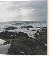 Evening Oceanview Wood Print