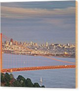 Evening Over San Francisco Wood Print