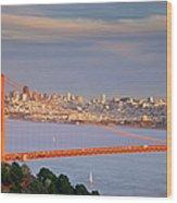 Evening Over San Francisco Wood Print