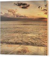 Evening Rays  Wood Print