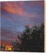 Evening Sky In Palm Desert California Wood Print