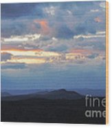 Evening Sky Over The Quabbin Wood Print by Randi Shenkman