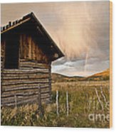 Evening Storm Wood Print by Jeff Kolker