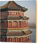 Evening Temple Of The Fragrant Buddha Wood Print by Mike Reid