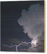 Evening Thunderstorm Wood Print