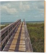 Evening Walk To The Beach Wood Print