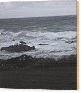 Evening Waves Wood Print