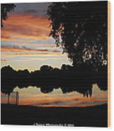 Evenings On The Water  Wood Print