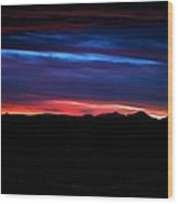 Evil Blue Sky Wood Print by Kevin Bone