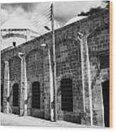 Evkaf Dairesi Bekir Pasa Su Idaresi Larnaka Iyhf Building In The Old Town Of Larnaca Republic Cyprus Wood Print