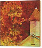 Exaggerated Fall Wood Print