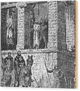 Execution Of Heretics Wood Print