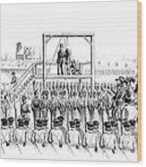 Execution Of John Brown, American Wood Print