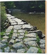 Exmoor National Park Crossing Bridge Wood Print