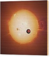 Exoplanet Corot-7b, Artwork Wood Print
