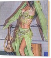 Exotic Dancer Wood Print