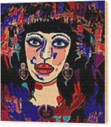 Exotic Woman Wood Print