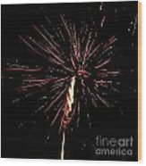 Explode Wood Print