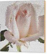 Exploding Pink Rose Wood Print