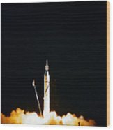 Explorer-1 Launch Wood Print