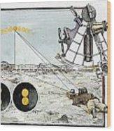 Explorer Robert E. Peary Uses The Sun Wood Print by Richard Schlecht