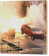 Explosion Wood Print
