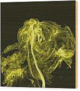 Explosive Yellow Wood Print