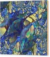 Exquisitely Blue Wood Print