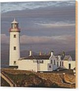 Exterior Of Fanad Lighthouse Fanad Wood Print