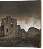 Exterior Of The Ruins Of Denhigh Castle Wood Print