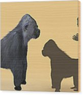 Extinct Giant Gorilla Wood Print